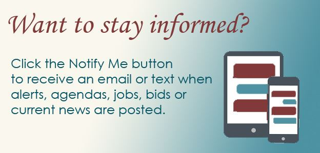Notify Me allows citizens to signup for emails & text when new items are posted to the website.
